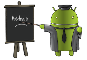 Image of an Android teacher